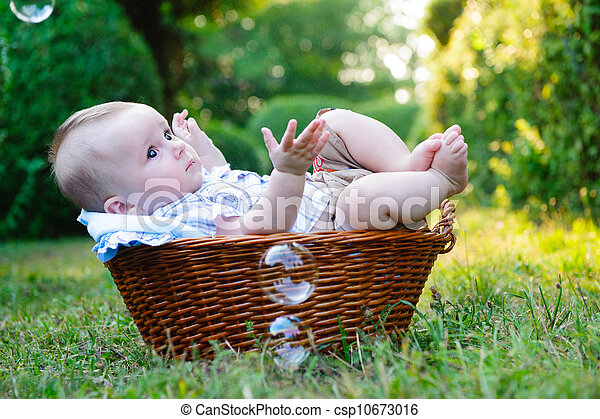 Baby in basket - csp10673016