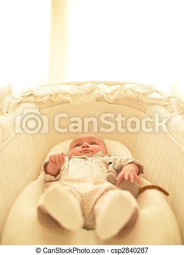 Baby in Bassinet - csp2840287