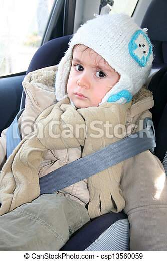 Baby in car seat for safety - csp13560059
