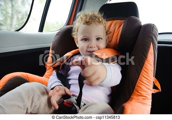 Baby in car seat - csp11345813