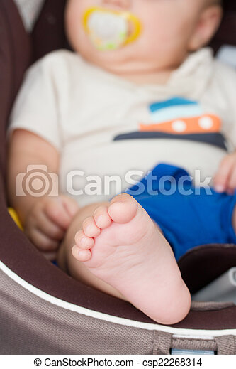baby in car seat - csp22268314