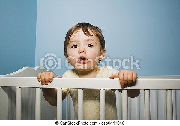 baby in crib - csp0441646