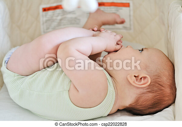 baby in crib - csp22022828