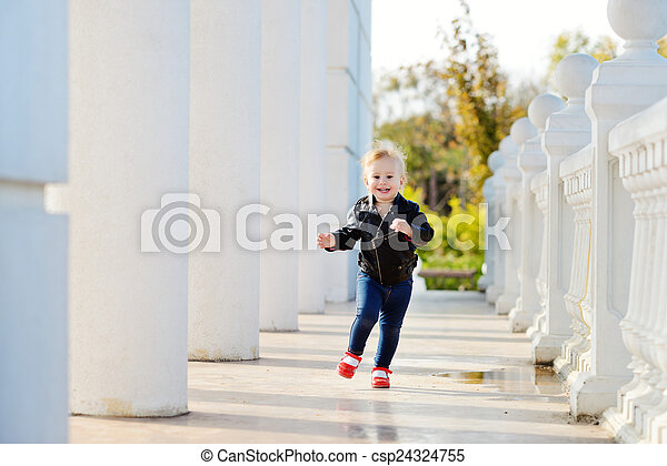 baby in motion - csp24324755