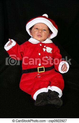 Baby in Santa Suit - csp0922927