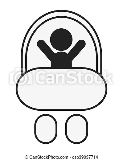 baby in stroller icon - csp39037714