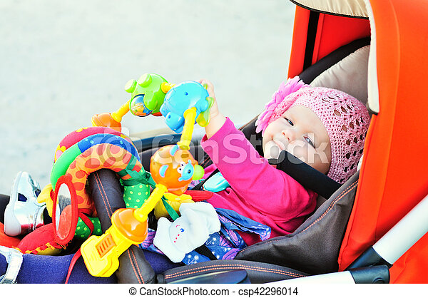 baby in stroller - csp42296014