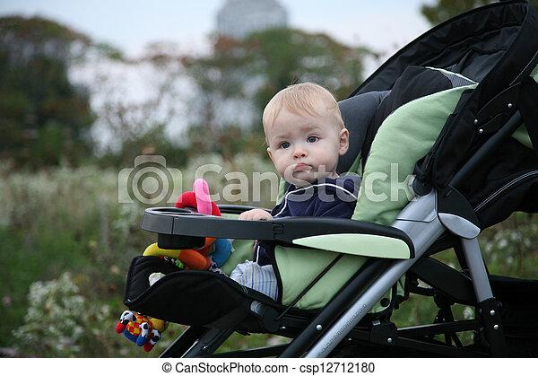 Baby in Stroller - csp12712180