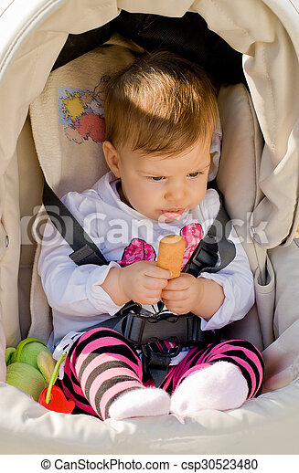Baby in stroller - csp30523480
