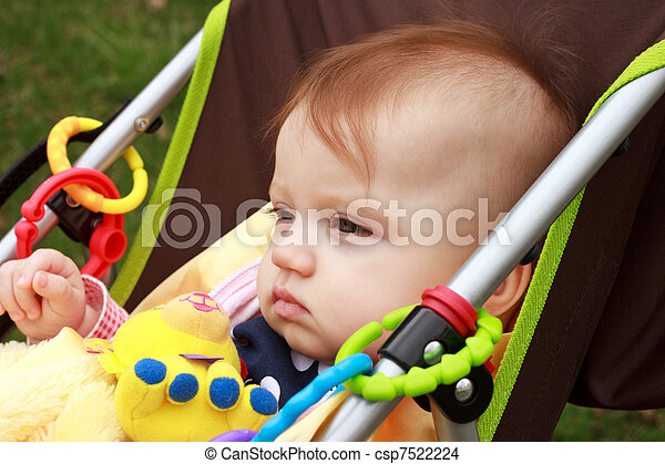 Baby In Stroller Stair - csp7522224