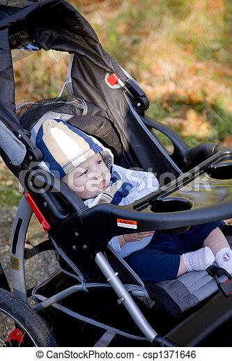 Baby In Stroller - csp1371646