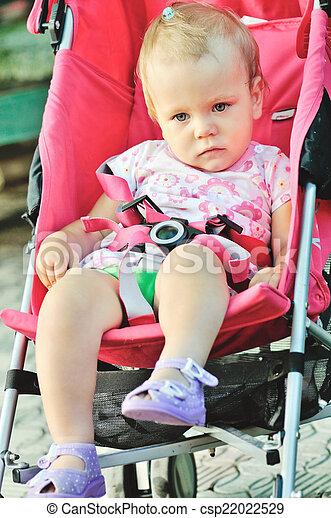 baby   in  stroller - csp22022529