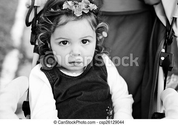 baby in stroller - csp26129044