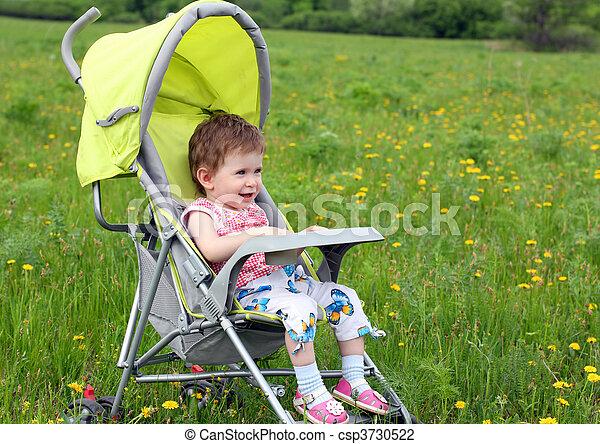 baby in stroller - csp3730522