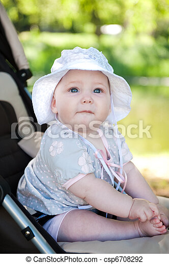 Baby in stroller - csp6708292