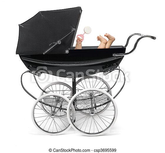 Baby in Stroller - csp3695599