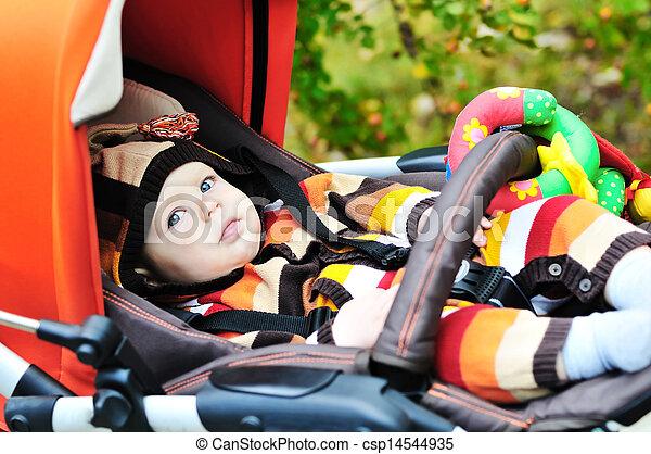 baby in stroller - csp14544935
