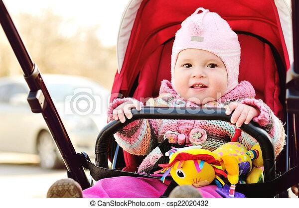 baby in stroller - csp22020432