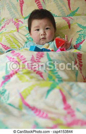 baby in the bed - csp4153844