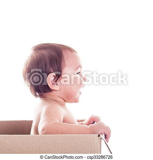 Baby in the box - csp33286726