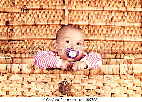 Baby in the box - csp13075331