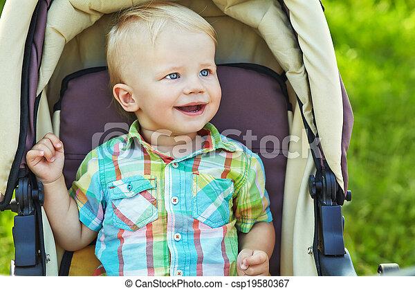 baby in the stroller - csp19580367