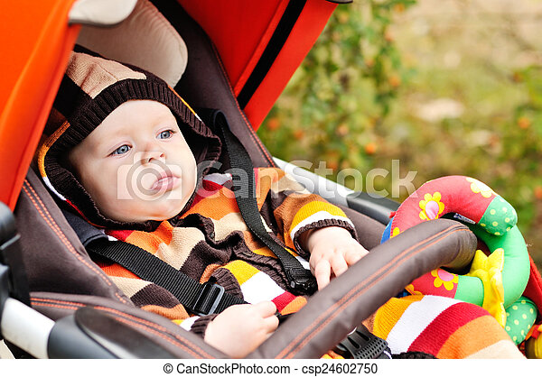 baby in the stroller - csp24602750