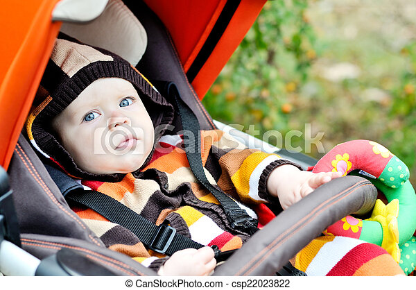 baby  in the stroller - csp22023822