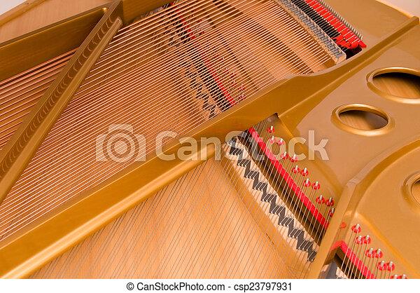 baby, innenseite, klavier, großartig - csp23797931