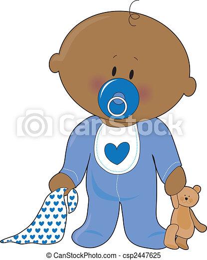 baby jongen, soother - csp2447625