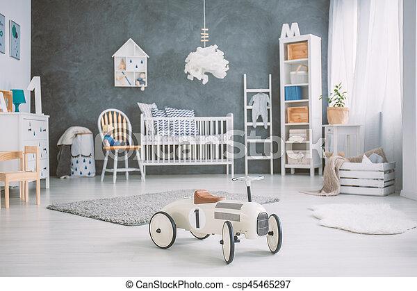 baby, kinderbed, ruim, kamer - csp45465297