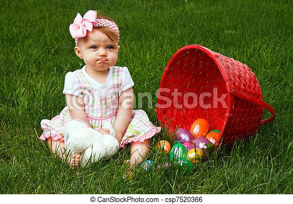 Baby Kussmund Ostern Verschütten