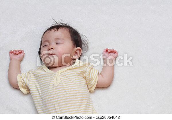 Baby meisje japanner slapende japanner slapende baby