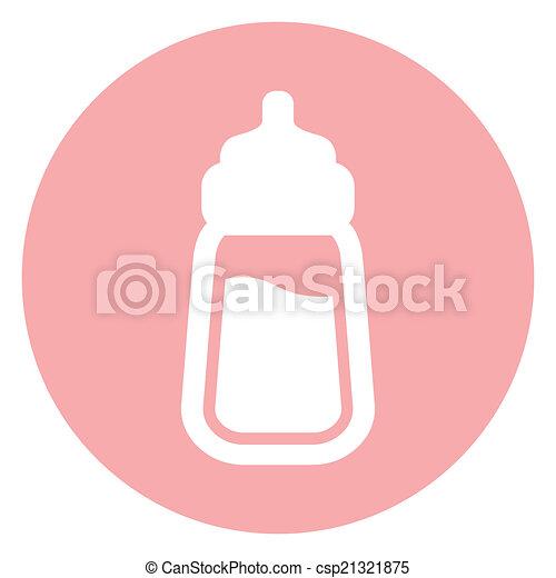 baby milk bottle icon  - csp21321875