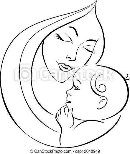 baby, moeder - csp12048949