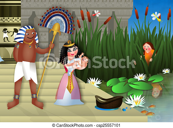 Baby Moses & the Egyptian Princess - csp25557101