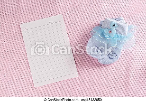 Baby New Born Greeting Card - csp18432050