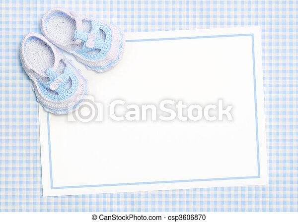 baby, nieuw, aankondiging - csp3606870