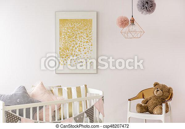 Poster Babykamer Pastel : Baby nursery trendy minimalist poster. trendy minimalist poster in
