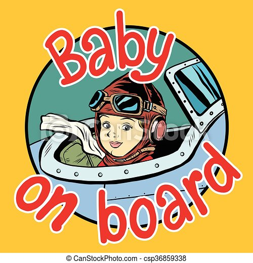 Baby on Board pilot - csp36859338