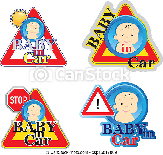 Baby on board sign - csp15817869