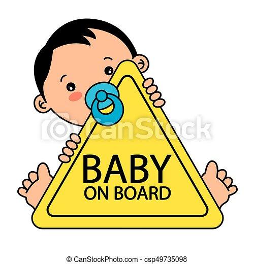Baby on Board Sign - csp49735098