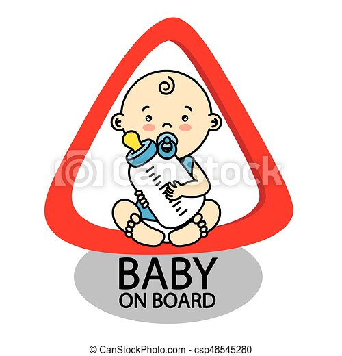 Baby on Board Sign - csp48545280