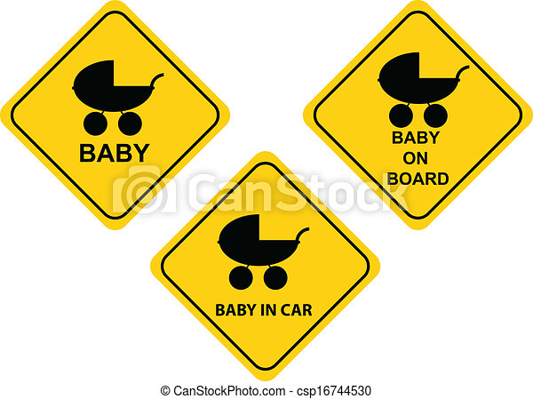 Baby on board sign - csp16744530