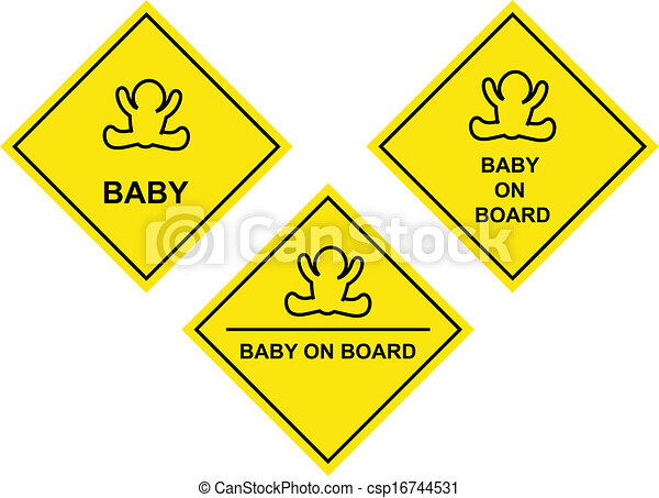 baby on board sign - csp16744531