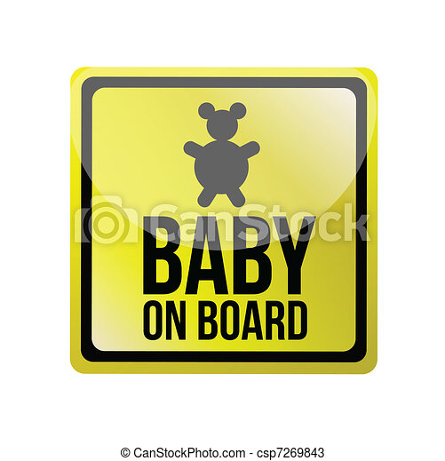 baby on board sign illustration - csp7269843