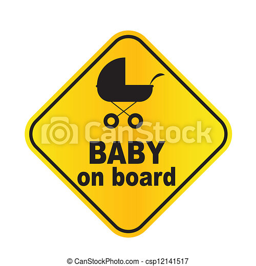 Baby on board sign vector illustration - csp12141517