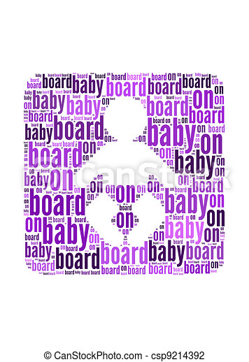 Baby On Board Text On Baby Symbol Graphic And Arrangement Clip
