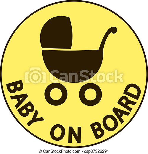 Baby on board vector illustration sign, - csp37326291