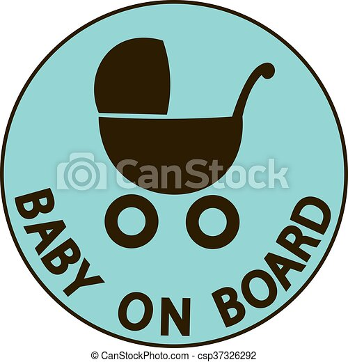 Baby on board vector illustration sign, - csp37326292